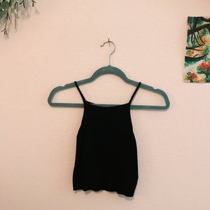 Urban Outfitters Tops - HIGH NECK RIBBED CROP TANK TOP